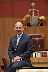 Senator the Hon Stephen Parry, twenty-fourth President of the Senate.