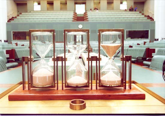 Hour Glasses in House of Representatives