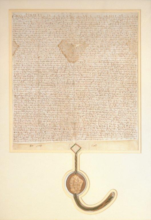 Inspeximus issue of Magna Carta, 1297, Parliament House Art Collection, Canberra, ACT