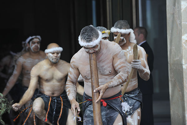Welcome to Country ceremony, Opening of Parliament, 2013.