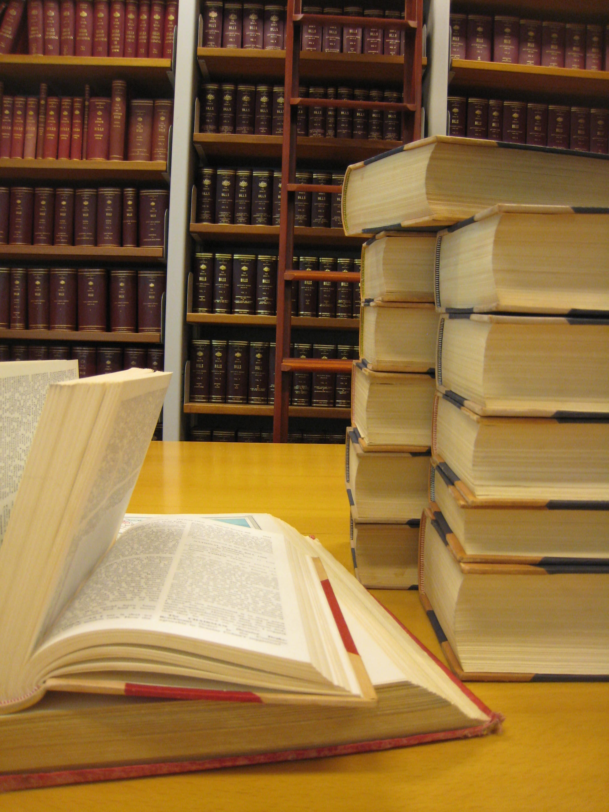 Bound volumes of Hansard and legislation