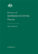 House of Representatives Practice 6th Edition cover image