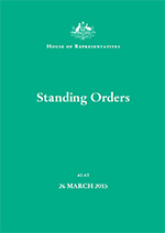 Sessional and Standing Orders cover image
