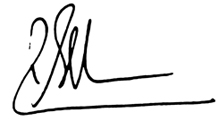 Signature of Rob Stefanic
