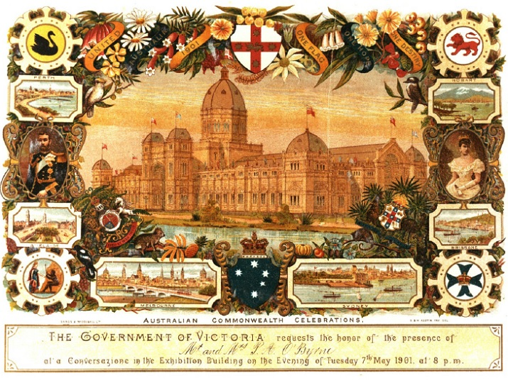 Invitation to the Australian Commonwealth Celebrations, Victoria, 1901