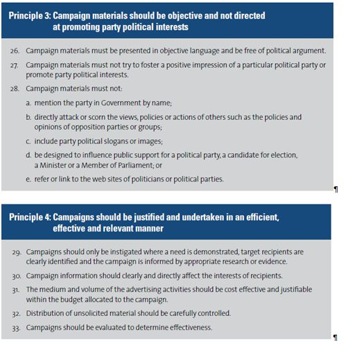 principles for the conduct and presentation of information and advertising campaigns