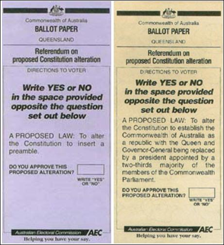 Ballot paper Queensland