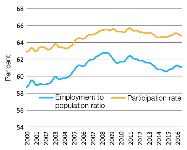 Participation and employment rates