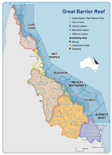 Great Barrier Reef and adjacent catchments