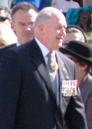 Peter Cosgrove at the 2008 National Anzac Day service