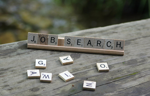 Scrabble word 'Job search'