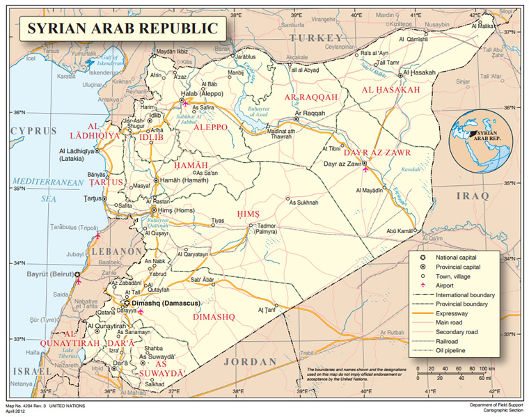 Figure 6: The Syrian Arab Republic