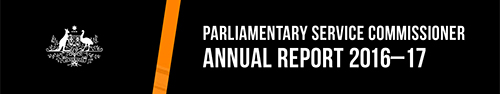 Parliamentary Service Commissioner Annual Report 2016-17