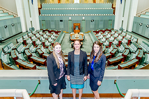 Graduates in the House of Representatives chamber