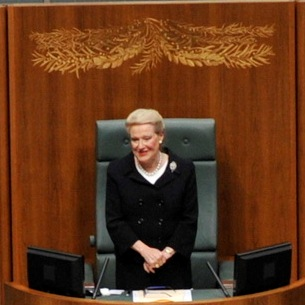 The Hon Bronwyn Bishop MP, Speaker of the House of Representatives