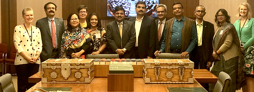 Indian parliamentary staff with the Parliamentary Education Office