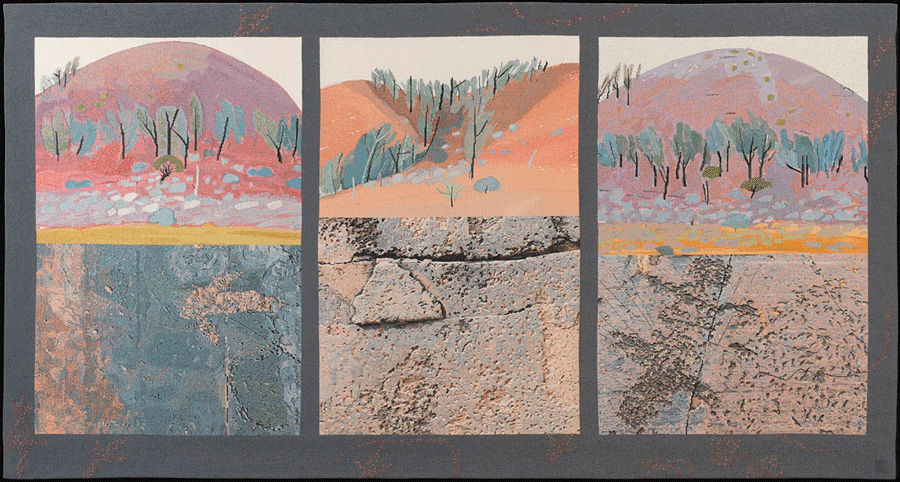 Kay Lawrence (born 1947) Red Gorge two views, 1987–1988.