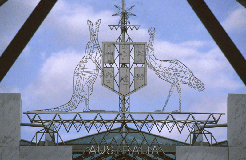 Robin Blau (born 1946) Coat of Arms (Main Entrance) Parliament House Canberra (1986–1987)