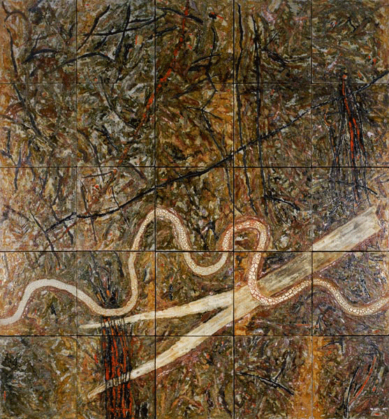 Michael Ramsden (born 1944) and Graham Oldroyd (born 1953) Six River Odyssey panels, 1986–1988.