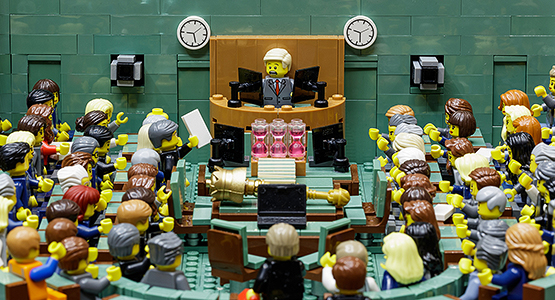 The House of Representatives made from LEGO