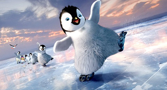 Penguins from the film Happy Feet 2