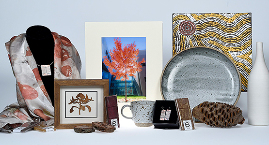 Jewellery, artwork, chocolate, ceramics and silk scarves available from The Parliament Shop