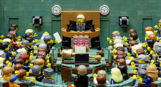 The House of Representatives chamber made from LEGO