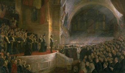 Opening of the First Parliament of the Commonwealth of Australia by H.R.H. The Duke of Cornwall and York (Later King George V), May 9, 1901. (1903) by Tom Roberts (1856-1931)