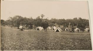 Federal Capital site survey camp, Camp Hill, Canberra, Australian Capital Territory, ca 1909
