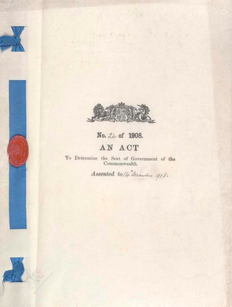 Seat of Government Act 1908