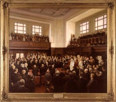 Opening of Federal Parliament at Canberra, 9 May 1927 , 1927‒28, by William Beckwith McInnes (1889‒1939)
