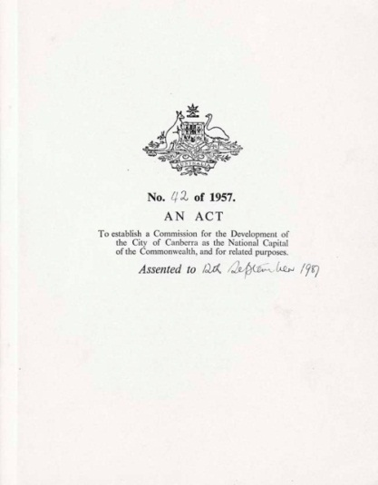 National Capital Development Commission Act 1957
