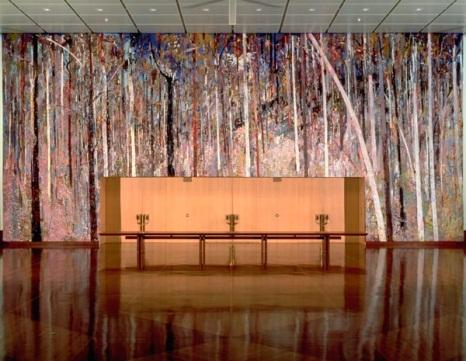 Great Hall Tapestry (1984‒1988), artist: by Arthur BOYD (1920‒1999), interpretation and execution: Victorian Tapestry Workshop (est. 1976) Wool, mercerised cotton and linen weft on a seine warp, 9m x 20m
