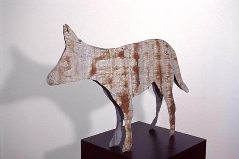 Tin Dog (from installation The Eye of the Dog), 1995 by Ingo Kleinert (1941‒))