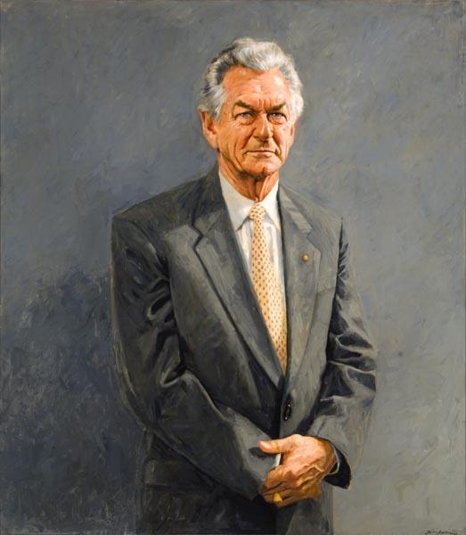 The Hon. Robert (Bob) JL Hawke AC, 1992 by Bill Leak (1956‒)