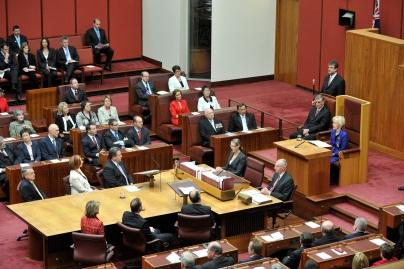The Governor-General delivers her opening of Parliament address