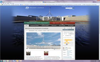 New Parliament of Australia website