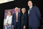 Foreign Minister Julie Bishop, Prime Minister Malcolm Turnbull, Trade, Tourism and Investment Minister Steven Ciobo and DFAT Secretary Frances Adamson at the launch of the 2017 Foreign Policy White Paper. 23 November 2017