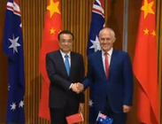 Chinese Premier Li Keqiang and Prime Minister Malcolm Turnbull