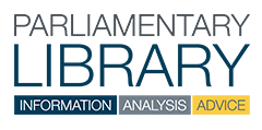 Parliamentary Library Logo showing Information Analysis & Advice