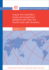 Cover of report of the inquiry into Australia's Relationship with Asia, the Pacific and Latin-America