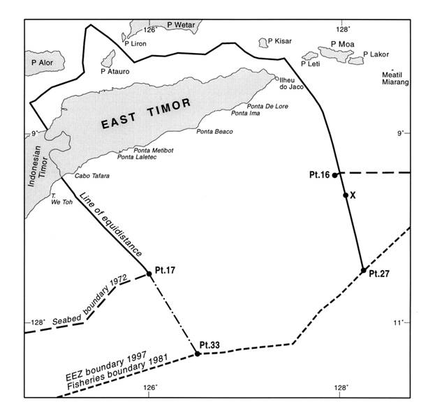 The Timor Gap: terminal points 16 and 17
