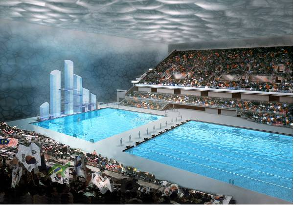 The proposed Beijing Olympic Swimming Centre. Photograph is courtesy of Arup, architecture firm PTW, the CSCEC (China State Construction and Engineering Corporation).