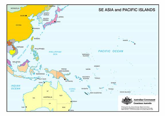 Chapter Southwest Pacific Parliament Of Australia - West pacific islands map 1998