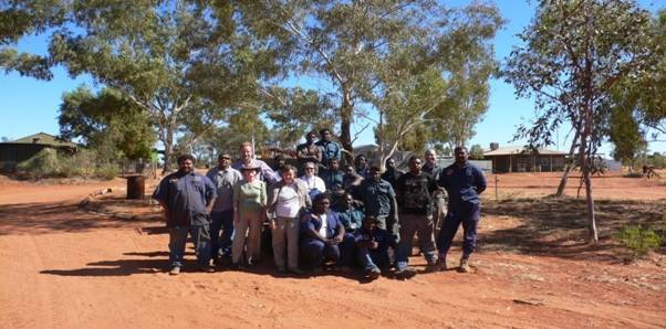 Image of Tjuwanpa Rangers and the Committee at Ntaria